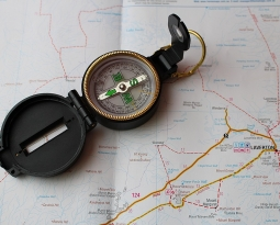 Finding Your Way With a Compass and Map